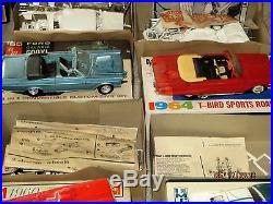 10-vintage 1960s Model Car Kits W Boxes-amt-mpc-imc-ford Gt-customs-gto-& More