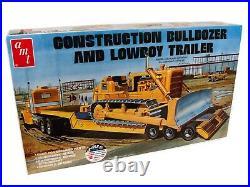 125 Amt Cat Dozer Crawler & Lowboy Trailer Set Plastic Model Kit Misb