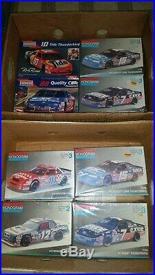 16 amt, Revell, NASCAR Racing car MODEL KITS 8 opened box all SEALED NEW inside