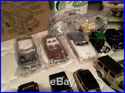 18 AS IS die cast model cars parts, frames metal kits collection ford chevy amt
