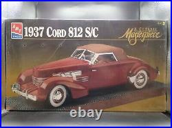 1937 37 Cord 812 S/c Amt/ertl 112 Scale Vintage Sealed Model Kit Skill 3
