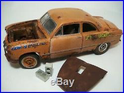1949 Ford Coupe Drag Gasser Barn Find Rat Rod Weathered Pro Built AMT 1/25