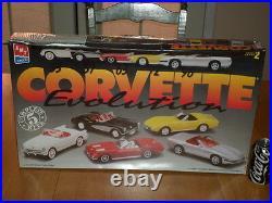 1953 & 1957 & 1963 & 1972 & 1996 CORVETTE CARS, TOTAL OF (#5) Model Kits, 1/25