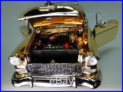 1955 Chevy Built 1 Nomad BelAir Car 12 Carousel GOLD 24k Model 24 Metal 18