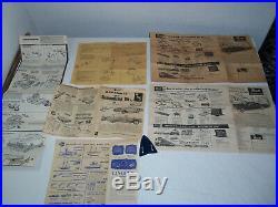 1956 Lot Vintage Model Kits LINCOLN CONTINENTAL Revell AMT Ideal PYRO Parts Box