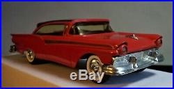 1957 Ford Fairlane 500 HT, AMT Promo-Friction, Toy Store. Red & Black. Straight