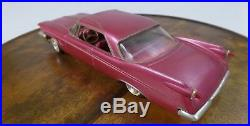 1960 Chrysler Imperial Plastic Vintage AMT Customizing Kit Model, Purple