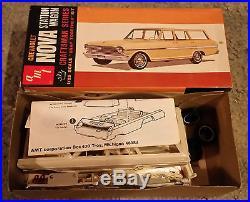 1960s Vintage RARE AMT 1963 Chevy II Nova SW CRAFTSMAN SERIES NMIB Beauty