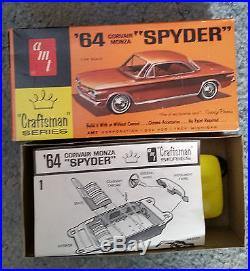 1960s Vintage RARE AMT 1964 Corvair Monza SPYDER CRAFTSMAN SERIES NMIB Beauty