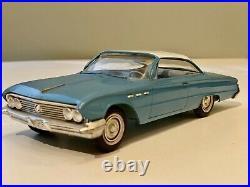 1961 Buick Invicta 2 Door Hardtop Dealer Coaster Promo Model Car 2Tone Blue MINT