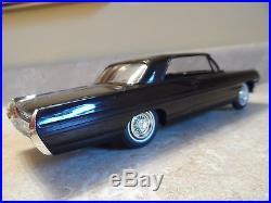 1962 AMT PONTIAC BONNEVILLE 1/25 Scale Friction Promo, BLACK, 9 Condition