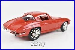 1963 AMT Corvette Split Window Dealer Promo Model Riverside Red 124