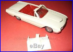 1963 AMT PROMO CAR FORD THUNDERBIRD CONVERTIBLE WithTONNEAU COVER SPORTS ROADSTER