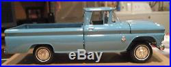 1963 Chevy Apache pickup with box Blue AMT dealer promo 1/25 model Chevrolet