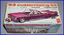 1963 Chevy Impala SS Convertible Vintage AMT 1/25 Complete Unstarted