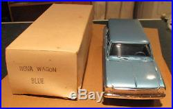 1963 Chevy Nova Station Wagon withbox Blue AMT dealer promo 1/25 model Chevrolet