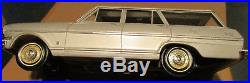 1963 Chevy Nova Station Wagon withbox Silver AMT dealer promo 1/25 model Chevrolet