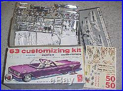 1963 Pontiac Bonneville convertible- AMT 1/25th scale plastic model car kit