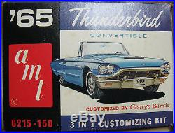1965 Ford Thunderbird Convertible Plastic Model Kit# 6215-150 Amt 1/25 Scale