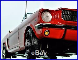 1965 Mustang Ford 1 GT 12 T Race Sport Car Vintage 40 Model 18 Carousel Red 24 8