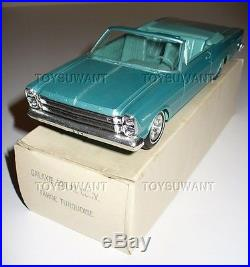 1966 Amt Promo Car Nmib Ford Galaxie 500 Convertible Tahoe Turquoise Blue Model