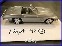 1966 Chevrolet Corvette Convertible Dealer Promo Car Silver RARE Beautiful