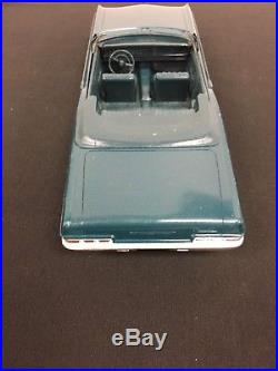 1966 Chevrolet Impala SS Convertible Promo Model Car by AMT MET DARK TURQUOISE