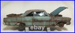 1966 Chevy Nova SS Junkyard Barn Find Weathered Custom Built Model 1/25 AMT
