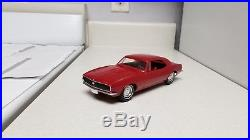 1967 AMT Chevrolet Camaro SUPERB TRUE Promo car EXTRA-RARE RED 67 G. M