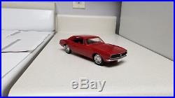 1967 AMT Chevrolet Camaro SUPERB TRUE Promo car EXTRA-RARE RED 67 G. M