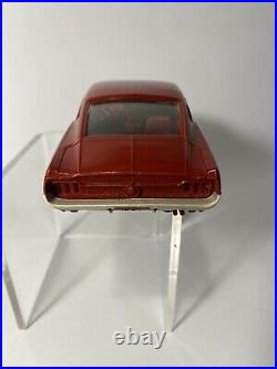 1967 Red Amt Dealer Friction Toy Ford Mustang Gt Fastback Promo Car