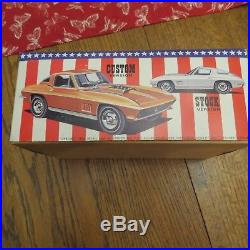 1967 corvette model kit AMT The Candidate 1/25 Extremely rare complete unbuilt