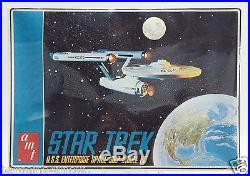 1968 Amt Star Trek U. S. S Enterprise Starship Model Kit Factory Sealed Nrfp