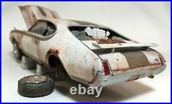 1969 Hurst Olds Junkyard Barn Find Weathered Custom Built Model 1/25 AMT