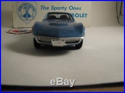 1970 1/2 Corvette, 427, Blue, AMT Promo, New Condition With Orig Box And Sticker