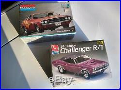 1970 Dodge Challenger R/T model kits (2) both still new in box, 70 E-Body Mopar