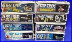 1970s Star Trek AMT Plastic Model Kit Set of 8- Most Sealed (SRP-M-04)