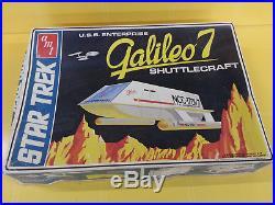 1974 AMT Star Trek USS Enterprise Galileo 7 Shuttlecraft Model Kit