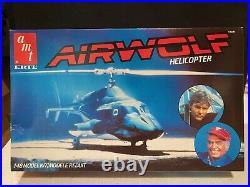 1984 Ertl Amt Airwolf Helicopter 148 Vintage Model Kit New