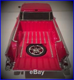 1 1957 Chevy Pickup Truck Chevrolet Built 12 Race Car 24 Model 18 Carousel Red
