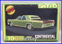 1/25 Amt 1969 Lincoln Continental 3 In 1 Model Kit Unbuilt In Box #y907-200