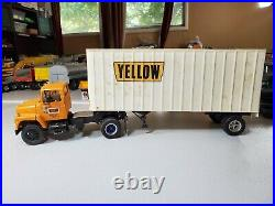 1/25 AMT Ford LN8000 S/A Yellow Freight WithPup Built Junkyard Wheels Roll