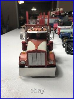 1/25 AMT Kenworth W900 Oakland Builder Supply Logger Truck Pitts Trailer