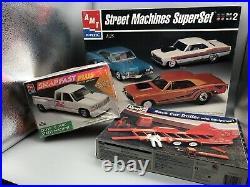1/25 Amt Street Machine Superset Amt Chevy Snapfast 1/24 Revell Race Car Trailer