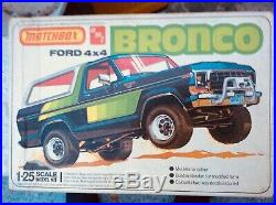 1/25 Matchbox/ amt Ford Bronco 1979 kit complete-intact, rare