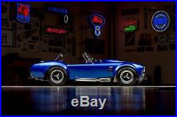 1 AC Cobra Shelby Ford 1966 GT Race Sport Car 40 Vintage Carousel Blue Model 18