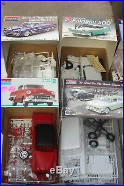 1 LOT (11) PLASTIC MODEL CAR KITS (builders)
