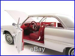 1 SS Chevy 409 Impala 1960s Sport Car Vintage 24 Carousel Silver 12 Metal 18
