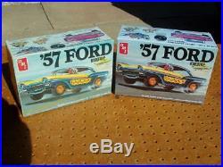2 Amt'57 Ford Hardtop Flashback 1/25 Scale Model Car Kits T285/1010 New Nib