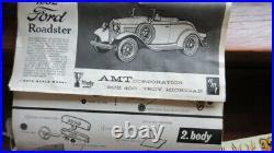 2 ESTATE Vtg 1962 AMT Ford Promotional Model Car Kits 1932 Roadster Victoria